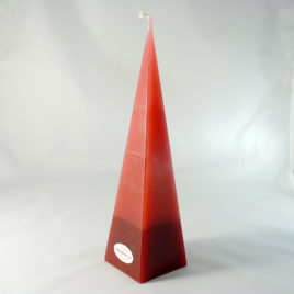 Gradient 4-Eckpyramide in Rot