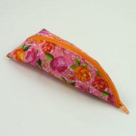Schlafsackmäppchen Blumen Orange Pink