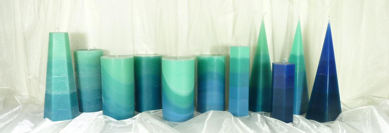 Blau-Grüne Kerzen