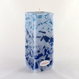 Mosaikkerze Viereck Blau