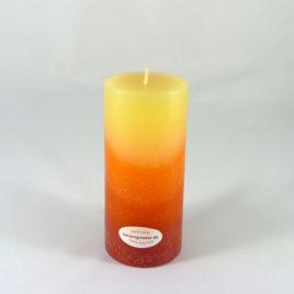 Gradient Stumpenkerze in Gelb-Orange-Rot