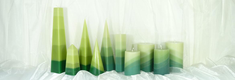 Grüne Kerzen